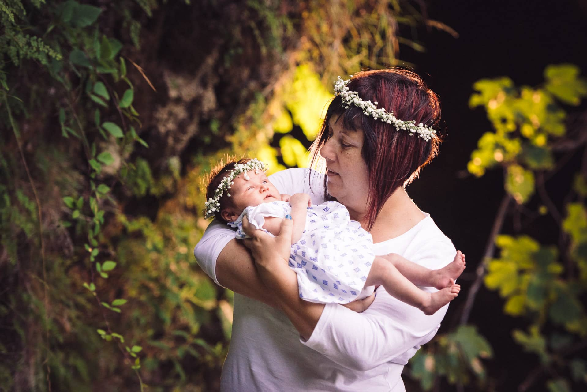 bebe maman couronne fleur nature studio graou