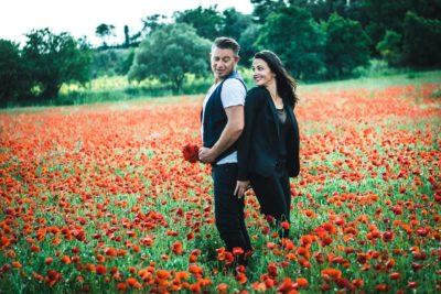 photo couple coquelicot caux studio graou
