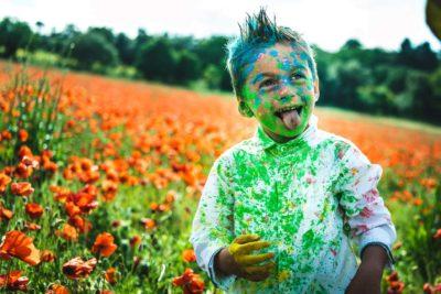photographe enfant poudre colorée studio graou