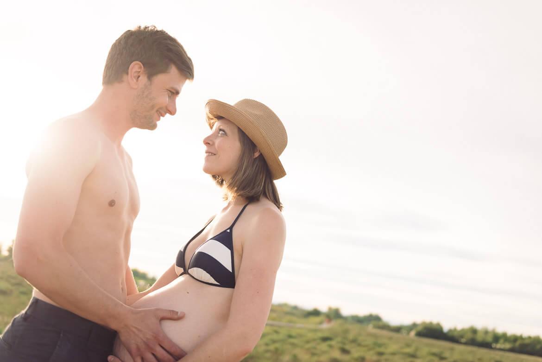 Photo grossesse en couple - Studio Graou à Montpellier dans l'Hérault