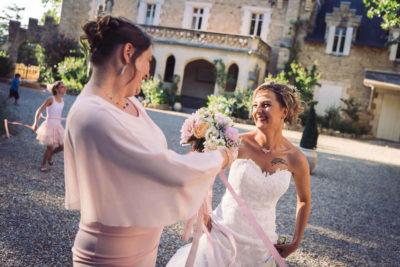 photo lancer bouquet mariage ruban decouper studio graou