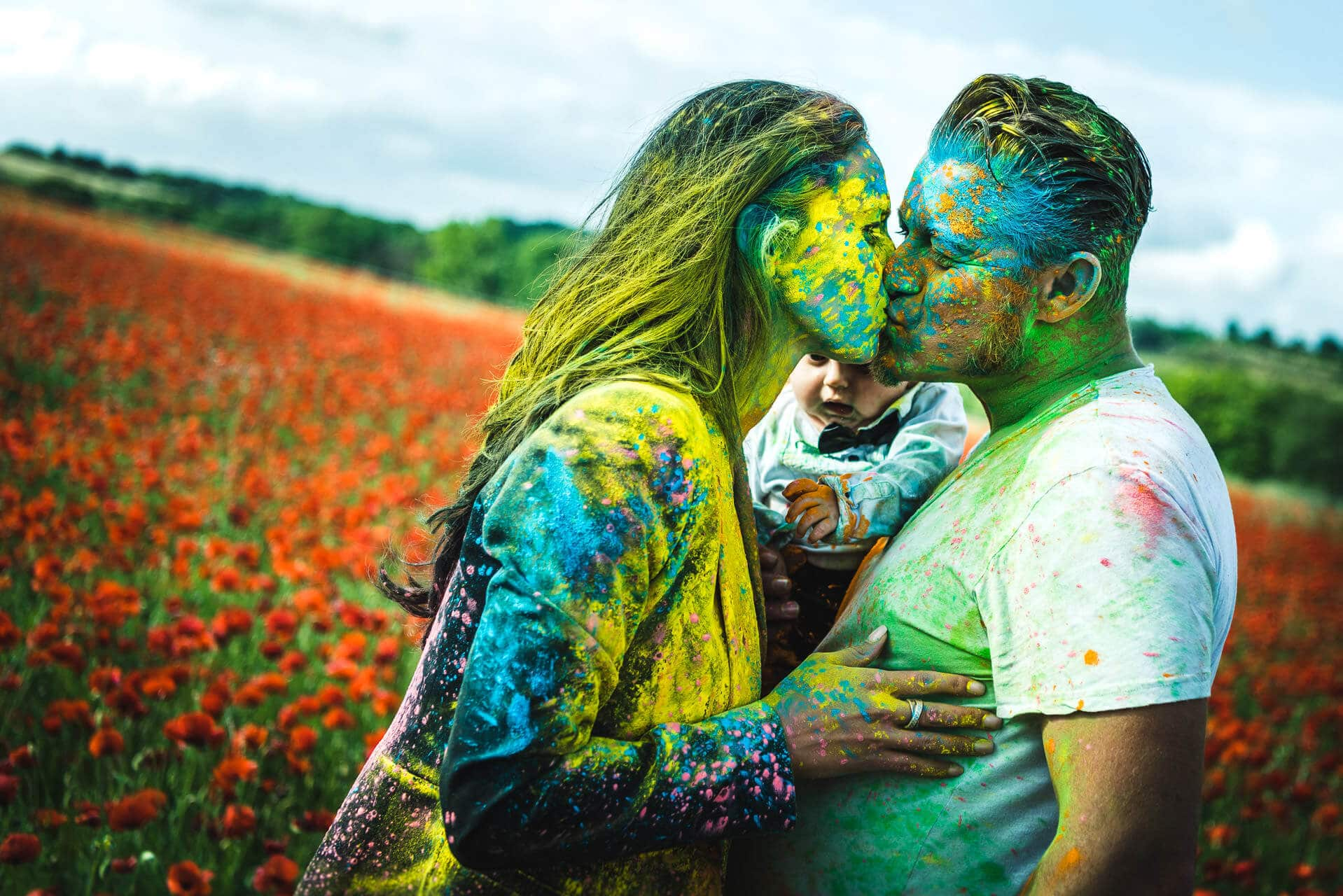 photographe couple herault poudre couleur holi studio graou