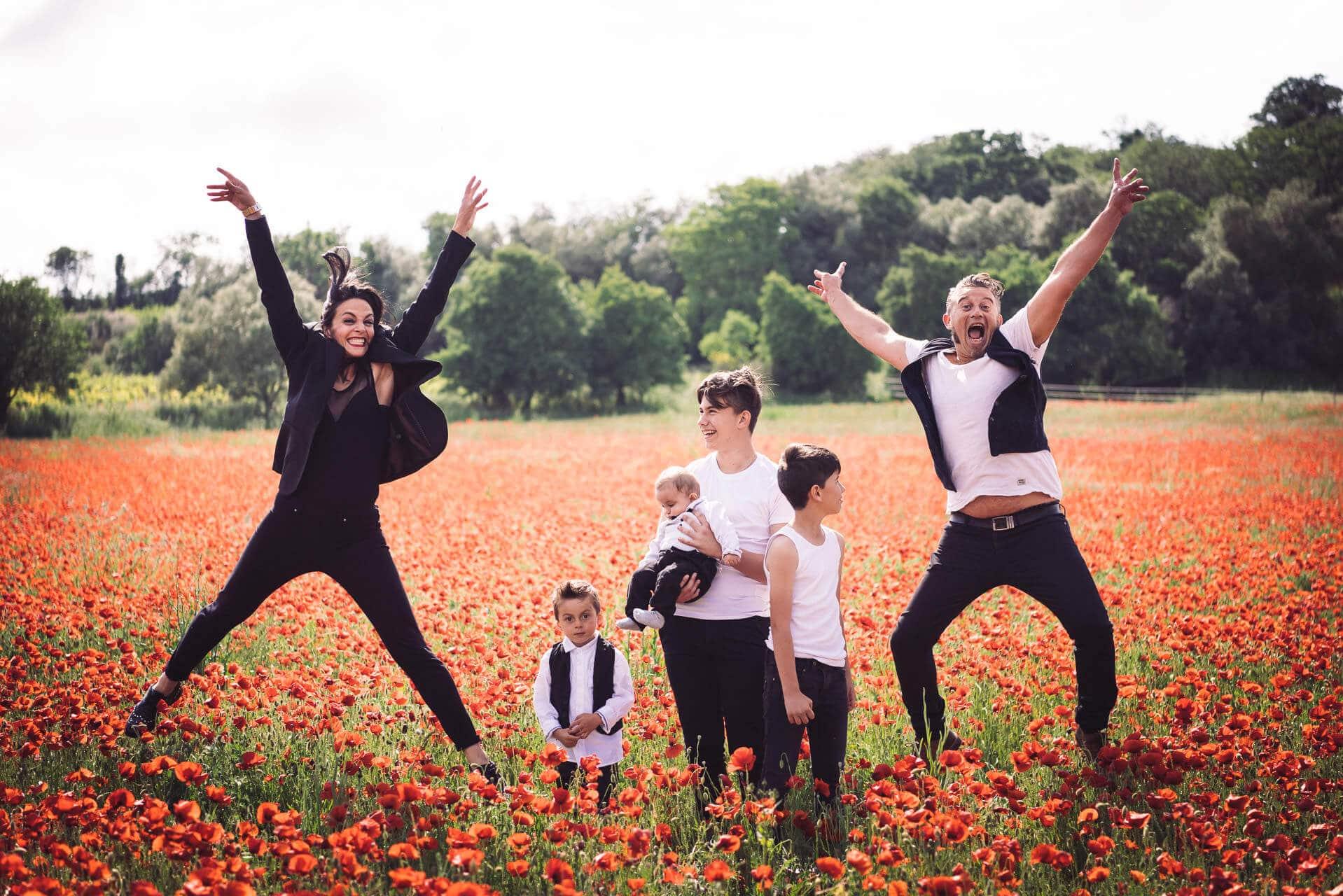 photographe famille coquelicot herault studio graou
