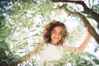 portrait enfant dans olivier centenaire caux seance photo enfant original studio graou beziers