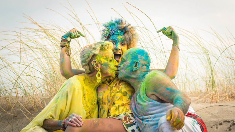 photo plage poudre couleur holi studio graou