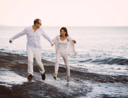 Anniversaire de mariage au bord de plage