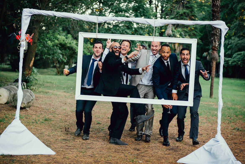 Photobooth dans le jardin du Château de Lignan - Studio Graou photographe mariage