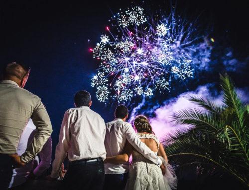 Un Feu d'Artifice le soir de son Mariage