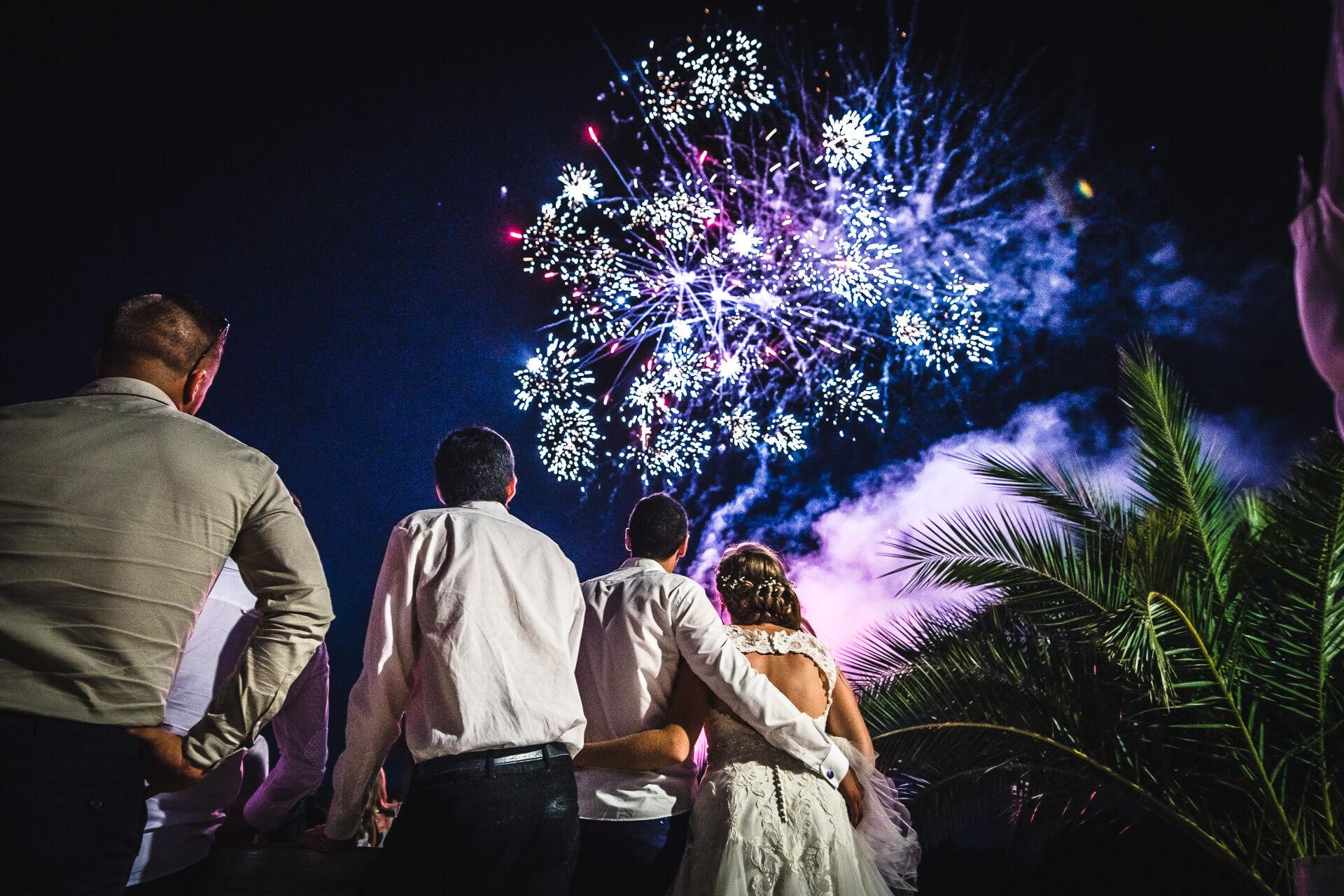 photographe mariage capestang domaine l'ale herault feu artifice