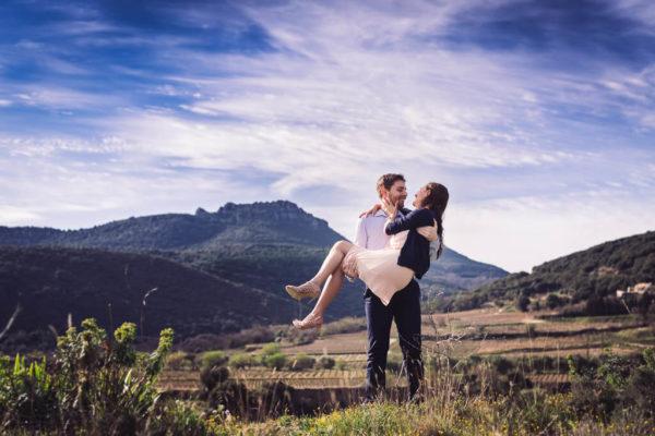 seance d'engagement photographe mariage beziers studio graou