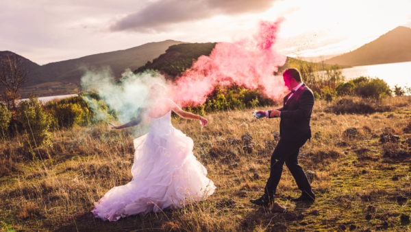 trash the dress poudre colorée holi studio graou occitanie