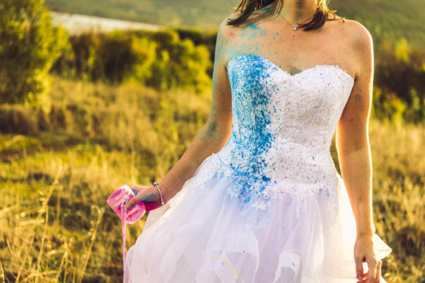 trash the dress poudre colorée holi studio graou herault