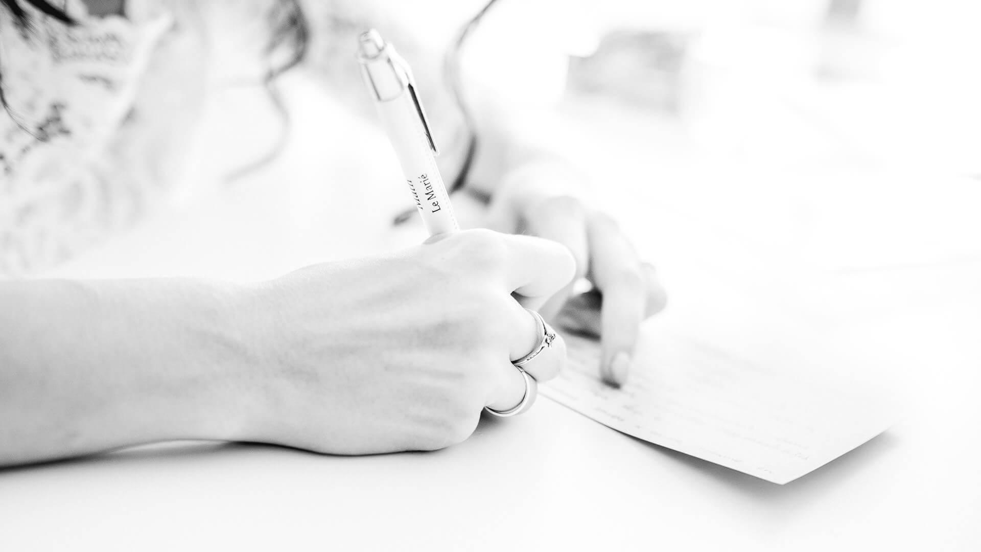 rituel boite temporelle stylo personnalisé mariage