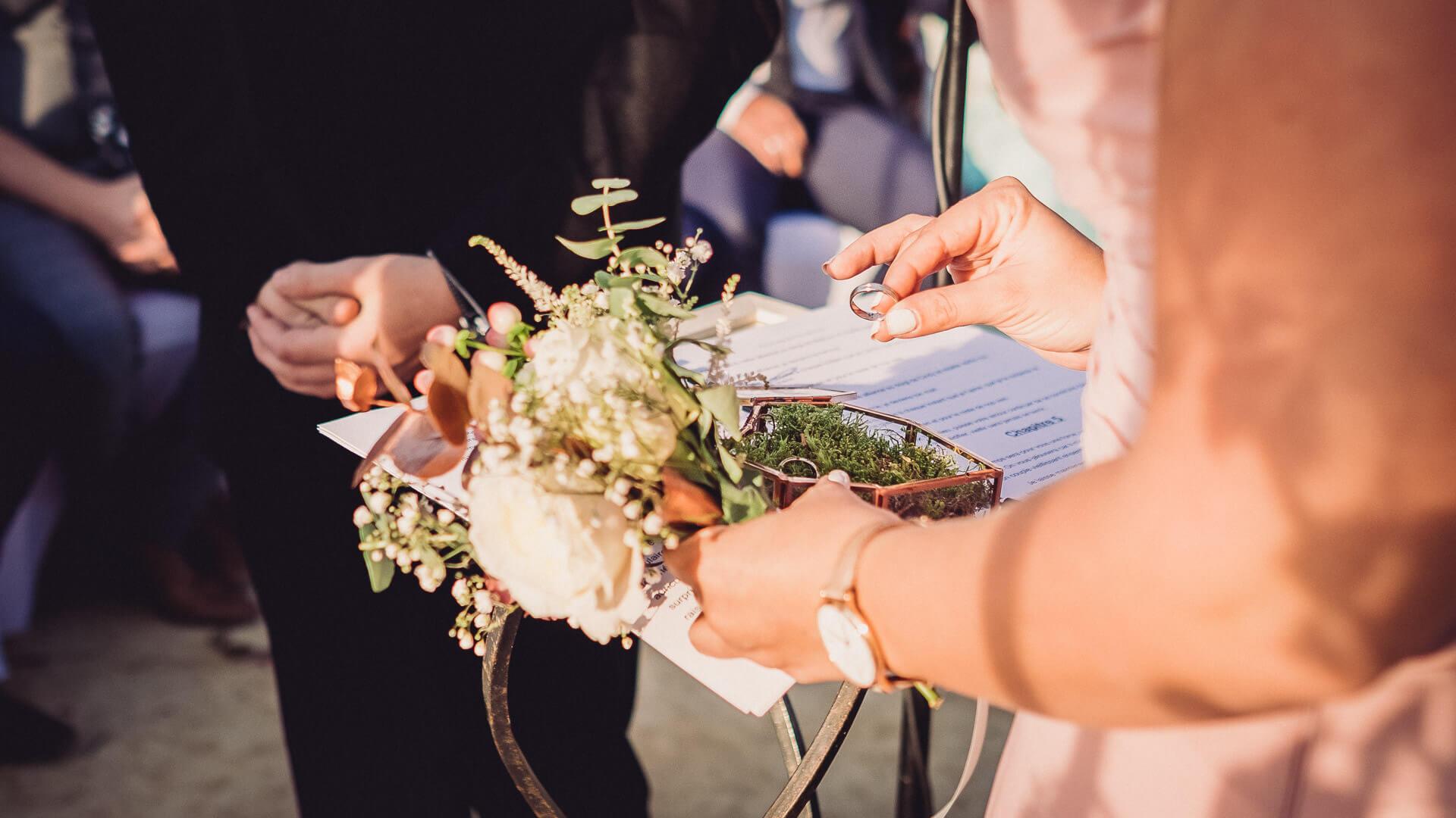 rituel echange alliance des mariés mariage herault