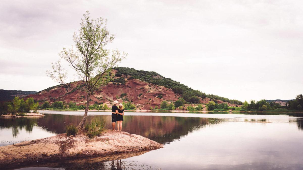 photo grossesse exterieur lac du salagou