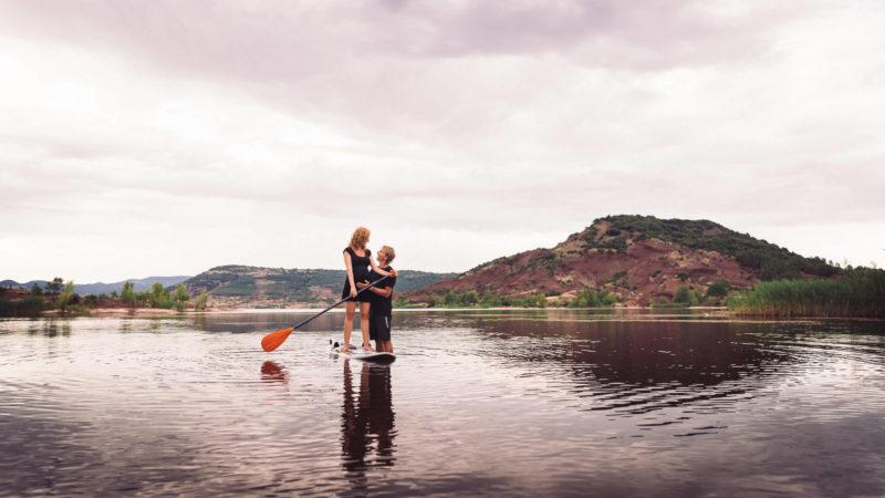 photo grossesse exterieur lac du salagou paddle