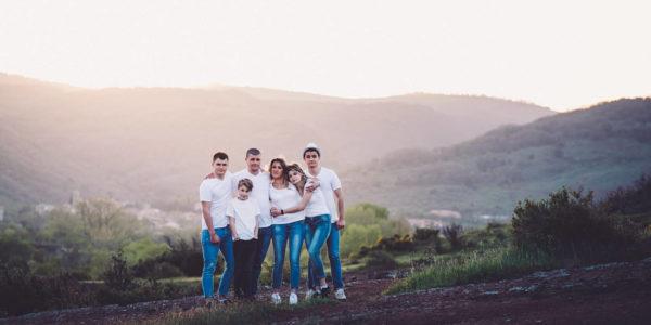 shooting photo famille lac du salagou