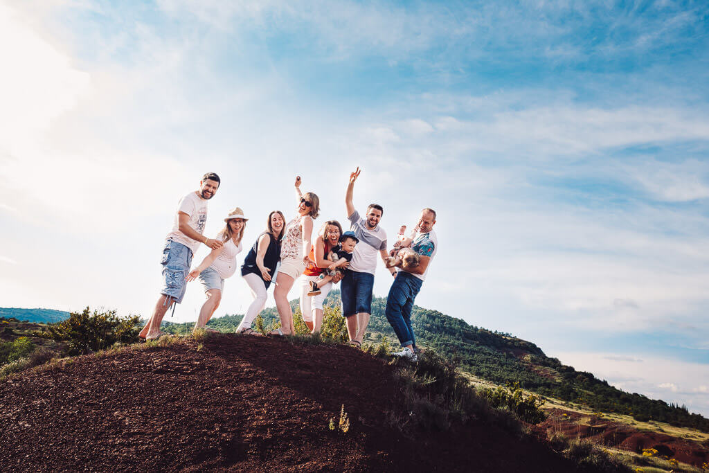 photographe famille exterieur lac salagou