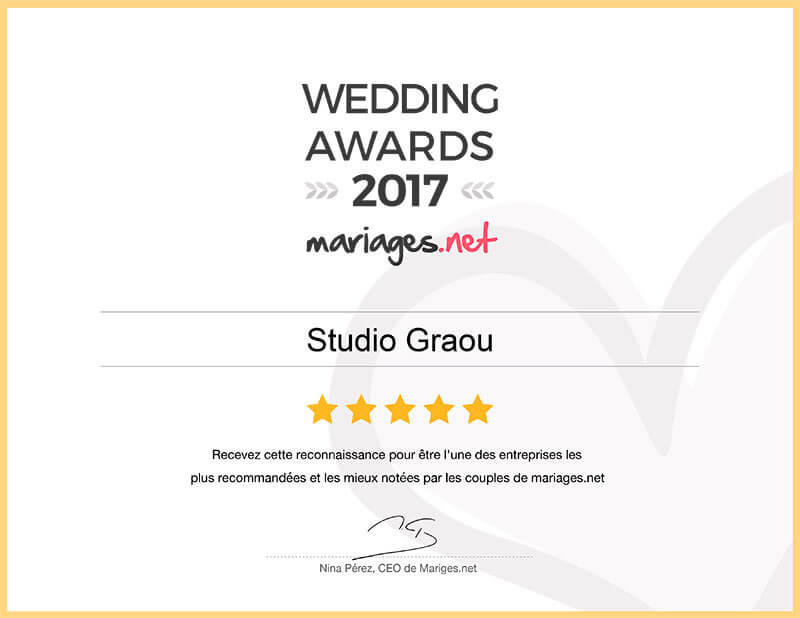 wedding awards 2017 mariages.net studio graou photographe languedoc-roussillon