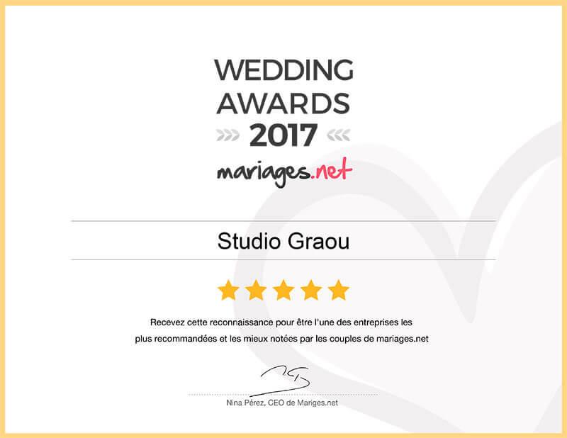 wedding awards 2017 mariages.net studio graou photographe languedoc-roussillon