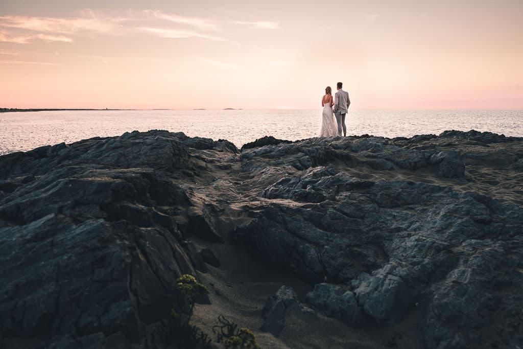 sunset trash the dress wedding photographie
