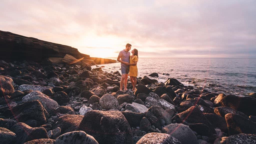 shooting couple cap agde plage lever du soleil