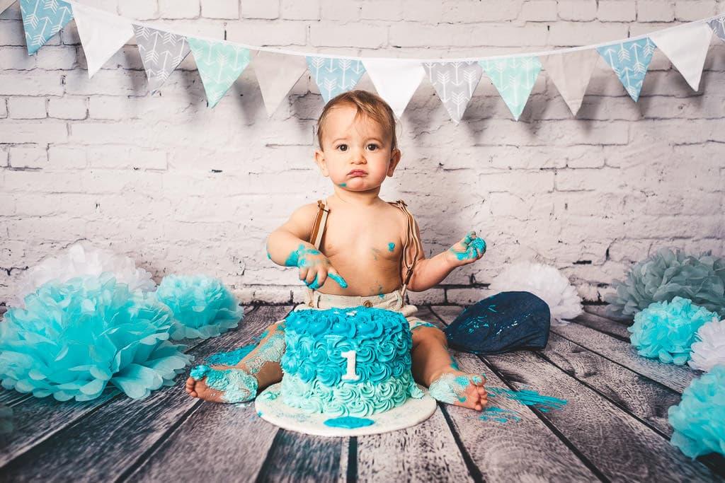 photographe anniversaire smash cake bebe 1 an beziers