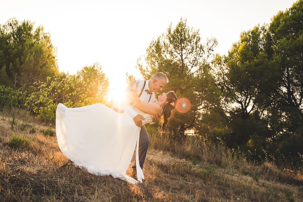 photographe mariage mas des 7 fonts saint pons de mauchiens