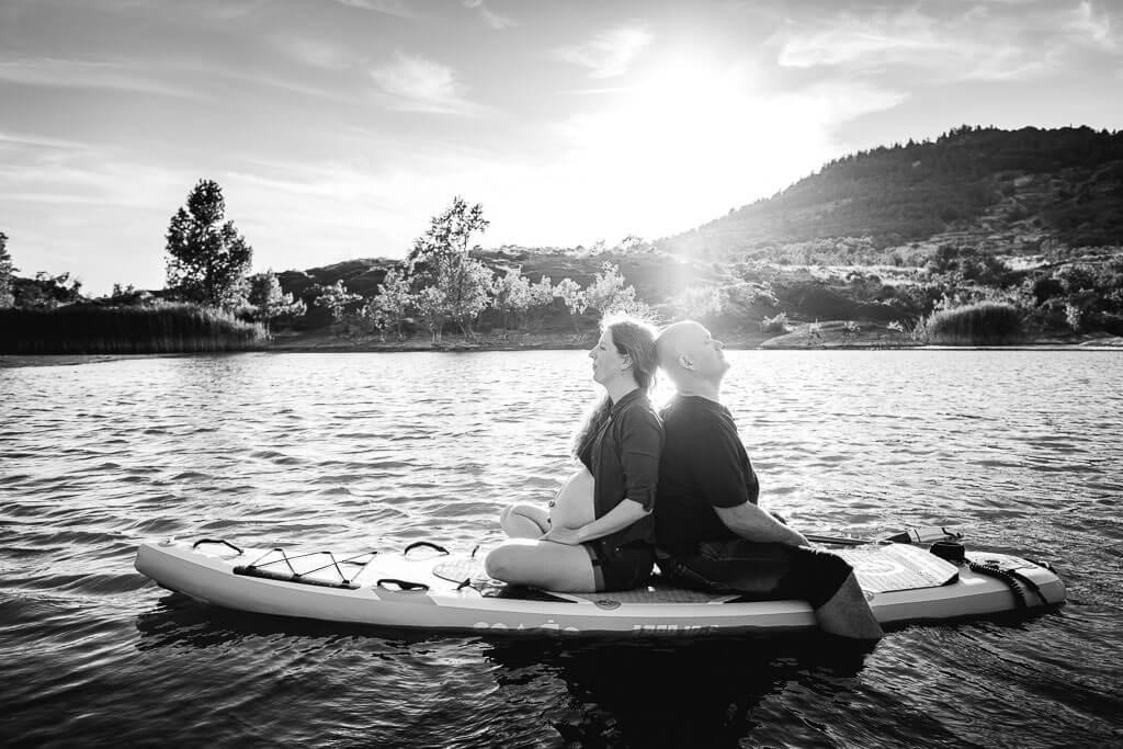 shooting photo grossesse lac du salagou